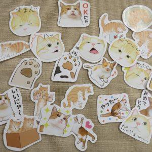 Stickers chat étiquettes kawaii autocollant scrapbooking – 23pcs
