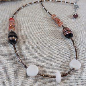 Collier ethnique perlée – bijoux cadeaux unique pour femme