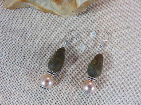 Boucles d'oreille ethnique, bijoux de perles pour femme