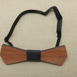 Nœud papillon en bois ajustable – accessoire mode homme